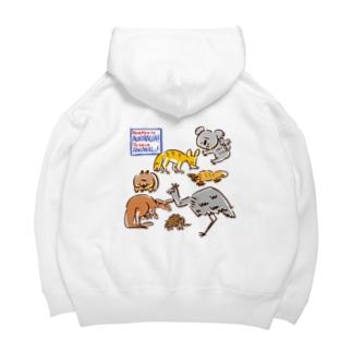 オーストラリアアニマル(500円募金) Big Hoodies