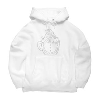 Catpuccino Big Hoodies