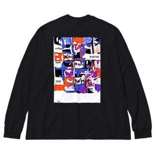 black music respect Big silhouette long sleeve T-shirts