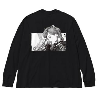 フトアゴ女子 Big silhouette long sleeve T-shirts