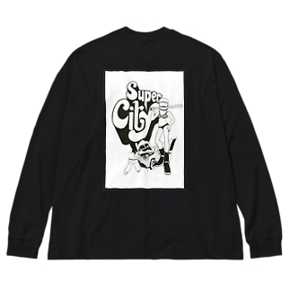 super  city モノ Big silhouette long sleeve T-shirts