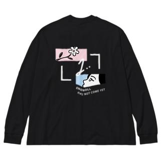 エンドロールはまだ来ない Big silhouette long sleeve T-shirts