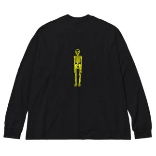 ドクロキイロ Big silhouette long sleeve T-shirts