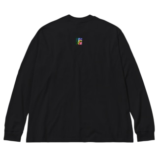 孔雀の散歩★とりばかシリーズ Big silhouette long sleeve T-shirts