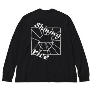 Shining rice Big silhouette long sleeve T-shirts