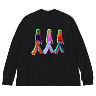 女の子たち Big silhouette long sleeve T-shirts