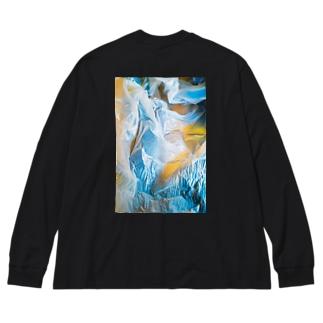 パラレルワールド Big silhouette long sleeve T-shirts