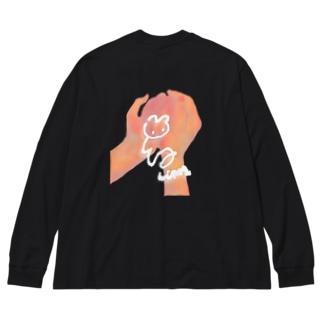 ルナティックのウサ Big silhouette long sleeve T-shirts