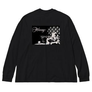 Tommy アーティスト写真 ビックロンT Big silhouette long sleeve T-shirts