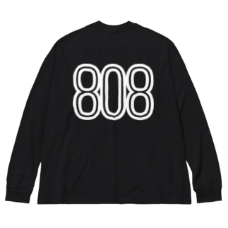 808 - BOB ※WHITE LOGO Big silhouette long sleeve T-shirts