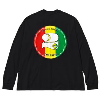 rasta rogo Big silhouette long sleeve T-shirts
