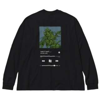 #KUSH Big silhouette long sleeve T-shirts