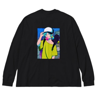 レトロストリート Big silhouette long sleeve T-shirts
