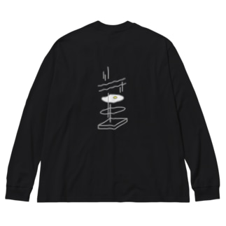 Big silhouette long sleeve T-shirts