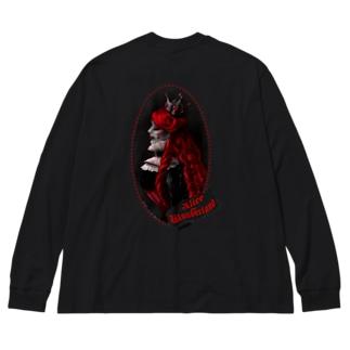 クイーンオブハーツ(背面ver) Big silhouette long sleeve T-shirts
