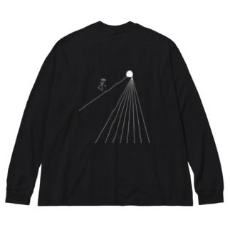 希死念慮 Big silhouette long sleeve T-shirts