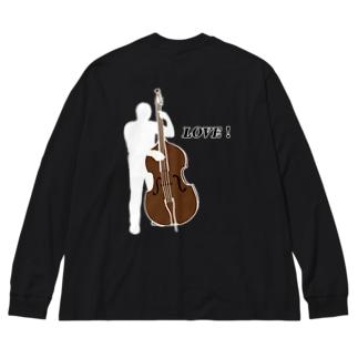 LOVE  MUSIC Big Silhouette Long Sleeve T-Shirt
