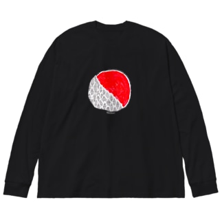 朝 Big silhouette long sleeve T-shirts