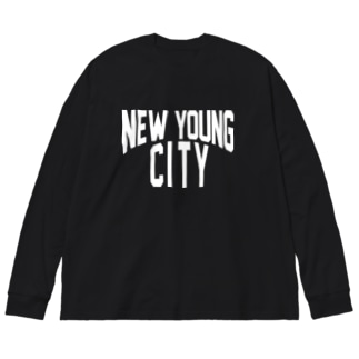 NEW YOUNG CITY Big silhouette long sleeve T-shirts