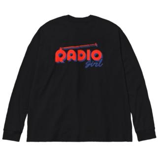 RADIO girl Big silhouette long sleeve T-shirts