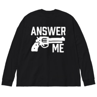 ANSWER ME Big silhouette long sleeve T-shirts