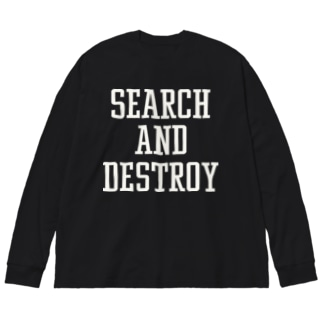 SEARCH&DESTROY Big silhouette long sleeve T-shirts