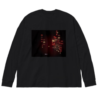幻想ランタン Big silhouette long sleeve T-shirts