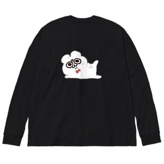 いずぽん酢のセクシー・ホワイト・テディ轟 Big silhouette long sleeve T-shirts