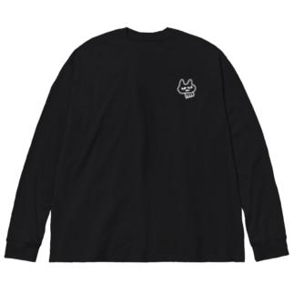 パントマイム(文字なし) Silhouette Big silhouette long sleeve T-shirts