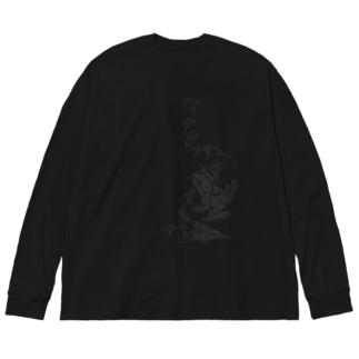 蔦とかえる Big silhouette long sleeve T-shirts