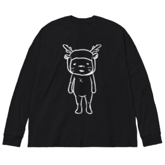 シカ Big silhouette long sleeve T-shirts