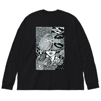 cut Big silhouette long sleeve T-shirts