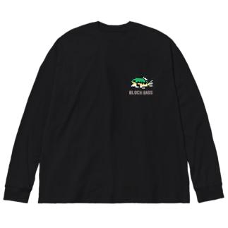 ブロックバス(濃色用) Big silhouette long sleeve T-shirts