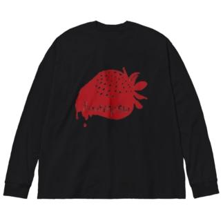 HoneyMonsterロゴ Big silhouette long sleeve T-shirts
