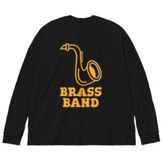 ブラスバンド Big silhouette long sleeve T-shirts
