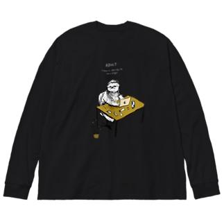 大人になったナマケモノ Big silhouette long sleeve T-shirts