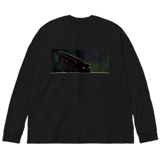 阿里山日の出登山に臨む Big silhouette long sleeve T-shirts