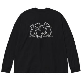 🐻:くまがいっぱいコレクション Big silhouette long sleeve T-shirts