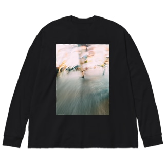 Drifting in the City Big silhouette long sleeve T-shirts
