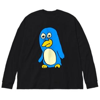ペンギンの三好さん Big silhouette long sleeve T-shirts