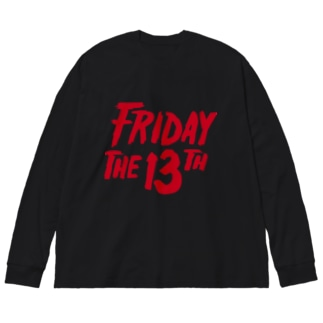 FRIDAY THE 13TH Big silhouette long sleeve T-shirts