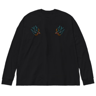 710の電飾燕中華風味 Big silhouette long sleeve T-shirts