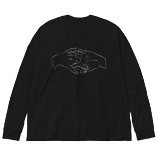 狐の窓:暗 Big silhouette long sleeve T-shirts