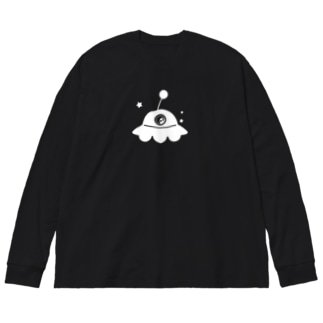 UFO白 Big silhouette long sleeve T-shirts