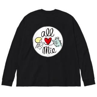 オール三重/ワニくん Big silhouette long sleeve T-shirts