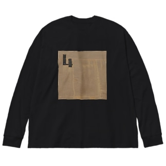 4の壁 Big silhouette long sleeve T-shirts