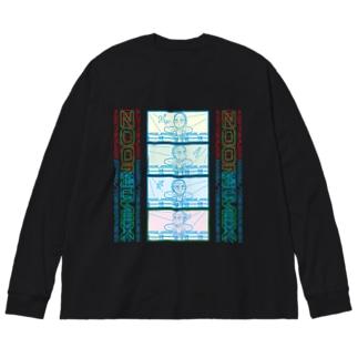 四つ打ち漫画 ZOOM MIX39 Big silhouette long sleeve T-shirts