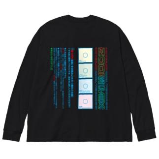 四つ打ち漫画 ZOOM MIXの注意書き Big silhouette long sleeve T-shirts