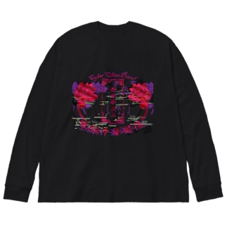 電脳チャイナパトロール Big silhouette long sleeve T-shirts