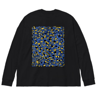 cells よるとあかり Big silhouette long sleeve T-shirts
